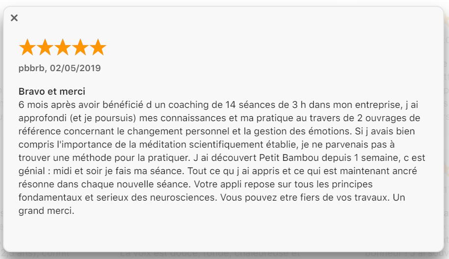 commentaire Apple Petit bambou
