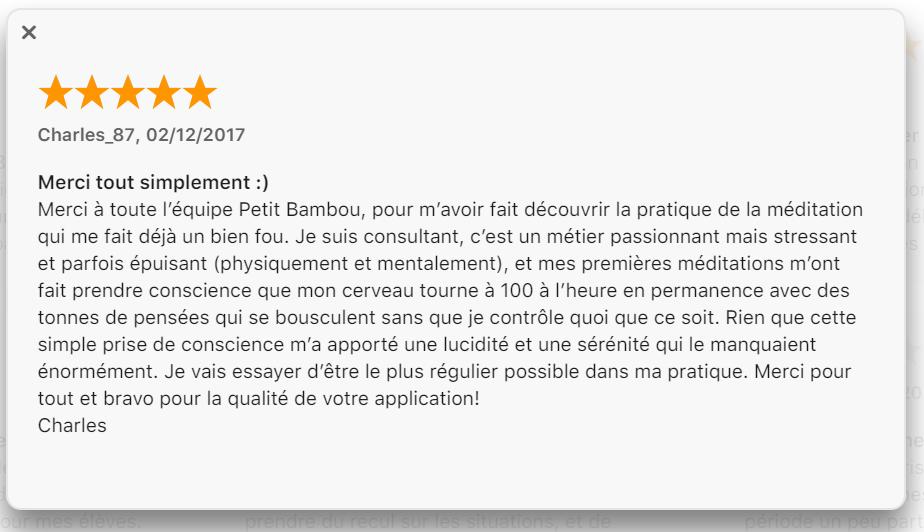 commentaire Apple Petit bambou 2